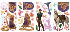 Popular Characters 46 Piece Tangled Wall Decal
