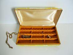 Vintage Mele Travel Jewelry Case Mid Century Modern by SeedAndVine