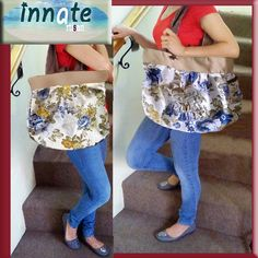 Vintage Floral tote by InnateArtisanSoap on Etsy