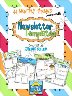 free printable monthly newsletter template for teachers - Google ...