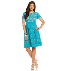 Blue Lace Dress/ everyday dress/ a-line dress/ wedding guest dress/ occasion/ desk to dinner/ fabulous at every age