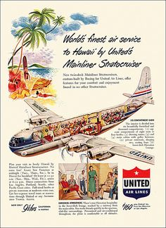 United Airlines Ad, 1950