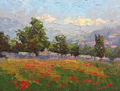 Meadow in Bloom by Heidi Haislmaier Oil ~ 9 x 12