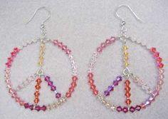Sterling Silver  Peace Earrings #2428