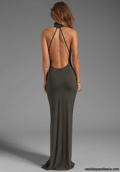 Elegantes y modernos vestidos largos de fiesta con escote en la espalda – 10