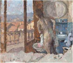 Bernard Dunstan (British, born 1920)Title:Balcony Room, San Gimignano