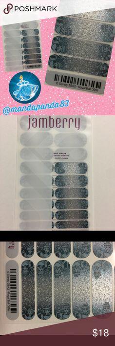 Jamberry Disney's Cinderella Nail Wraps NWT Silver and blue sparkle Cinderella Nail Wraps! Stunning!!! Jamberry Accessories