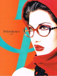 #LaetitiaCasta for #YSL eyewear 1996