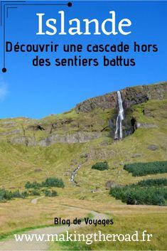 En #Islande dans la péninsule de Snaefellsnes, partez à la découverte de cette somptueuse #cascade hors des sentiers battus. La cascade de Bjarnarfoss eput etre une étape lors d'un road trip en Islande de l'Ouest. Les Fjords, Les Cascades, Voyage Europe, Destination Voyage, Parc National, Blog Voyage, Iceland, Mountains, Travel Inspiration