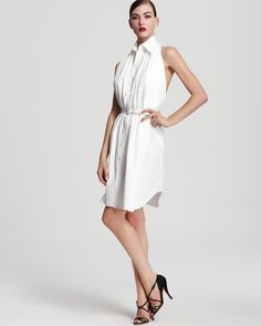 Jean Paul Gaultier Dress - Poplin Belted