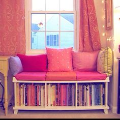 E's room reading nook