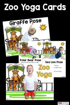 Zoo yoga is perfect for kids yoga! I love how the yoga poses are related to the zoo! Perfect for toddlers, preschool, and up!