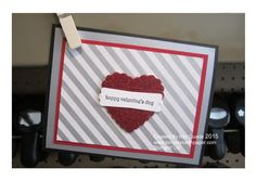 Valentines day card from Stampin Up Teeny Tiny Wishes stamp set