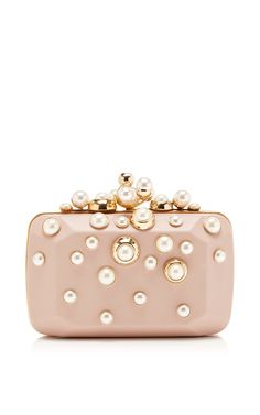 Small Pearl Embellished Clutch by Elie Saab for Preorder on Moda Operandi