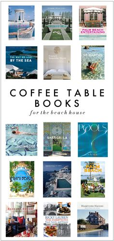 Coffee table books with a beach/pool theme