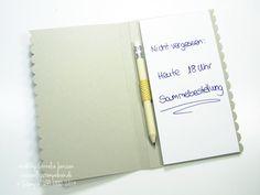 Schnelles Notizbuch mit dem Simply Scored von Stampin' UP! Dekoriert mit dem Designpapier Monstermix und dem Stempelset Fall Fest, Dotty Angles sowie Unvergesslich. Kleine Anleitung für ein Notizbuch.