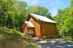 Come and enjoy our Hoot 'n Hollar 4 bedroom pet friendly log cabin rental located in the beautiful Brother's Cove Development in Wears Valley just outside of Pigeon Forge Tennessee in the Great Smoky Mountains. #fun #cabin #mountain #view