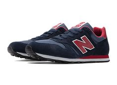 New Balance 373 - Navy with Red