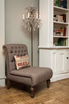 Classic Style Tufted Georgina Chair In Grey Interior Inspiration, Classic Style, Accent Chairs, Couch, Archive, Sea, Furniture, Decoration, Home Decor