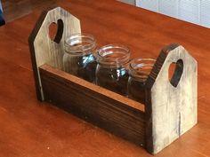 Planter Box - Wedding Centerpiece-Distressed Wood Box - Decor- rustic - Beach - Riser - pine - planter box by CinderCityDesigns on Etsy