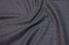 Mellemsvær mellemgrå uld-polyester flannel