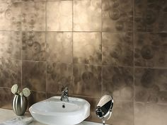 Metallic tile in the bathroom - Beautiful Tile Ideas to Add Distinctive Style to Your Bath