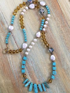 Vintage Czech Crystals & Pearl Necklace