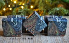 Natural handmade soap scented with woody essential oils blend, designed with double tiger stripe swirl! Essential Oil Blends, Essential Oils, Tiger Stripes, Woody, Artisan, Soap, Natural, Handmade, Design