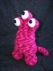 Three Eye Guy Monster Crochet Amigurumi by CraftyDebDesigns, $4.50