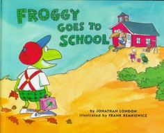 "Froggy's mother knows that everyone's nervous on the first day of school. ""Not me!"" says Froggy, and together they leapfrog to the bus stop? flop flop flop . Froggy's exuberant antics, complete with s"
