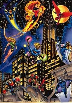 The New Warriors Phoenix Marvel, Comic Art, Comic Books, Jean Grey Phoenix, New Warriors, Marvel Girls, Thrasher, Comic Character, Marvel Universe