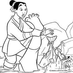94 mulan PRINTABLE COLORING PAGES FOR KIDS.
