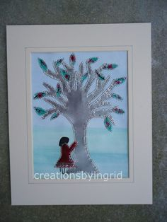 I am Hugging my Soda Pop Can Tree Collage Recycled Aluminum Eco Chic