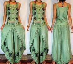 * FREE WORLDWIDE SHIPPING * No Minimum Order - GYPSY BOHO HAREM BELLY DANC PANTS TROUSERS TOP H22