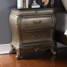 Meridian Furniture USA Roma 2 Drawer Nightstand U0026 Reviews | Wayfair.ca