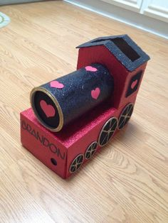 Train valentines box... Made it for my 3 year old Brandon. BIG HIT at school!