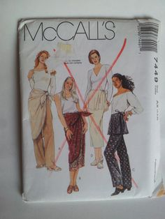 McCall's Sewing Pattern 7449 Misses' Pants and Skirt