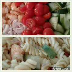 My fresh shrimp pasta salad