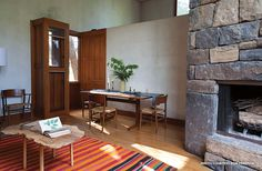 Love that rug.  New Owners of Kahn's Fisher House are Simply Charmed By It - Preservation Watch - Curbed National