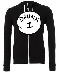 drunk 1 Zipper Hoodie