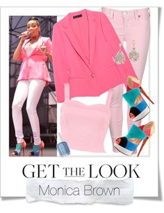 """""""Get The Look - Monica Brown"""" by renatademarchi ❤ liked on Polyvore"""