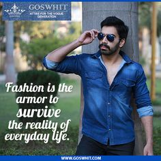 There's nothing more stylish than a classic pair of denim jeans & shirt! #GoForIt  Shop Now :-http://www.goswhit.com/buy-now.html