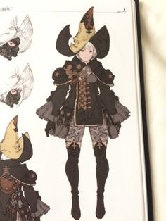 """lady-of-ishgard: """" Black Mage AF from Heavensward Artbook """" Star Character, Fantasy Character Design, Character Creation, Character Design Inspiration, Character Concept, Concept Art, Ecole Art, Character Costumes, Character Design References"""