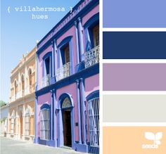 villahermosa hues from Design Seeds. The periwinkle and navy are awesome with the purple. Colour Pallette, Colour Schemes, Color Combos, Design Seeds, Colour Board, Color Swatches, House Colors, Color Inspiration, Architecture