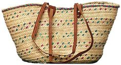 """Moroccan Straw Market Shoulder Bag w/ Leather Straps - 25""""Lx14""""H - Tunis Traders and Company,http://www.amazon.com/dp/B005STJ0KE/ref=cm_sw_r_pi_dp_y1octb1EAXQ6ADG7 {I need this}"""