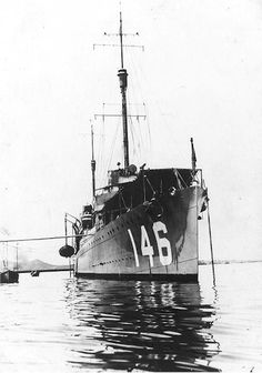 "tin-can-sailor: "" USS Elliot (DD-146) anchored at Chefoo, China, in 1920-1921. """