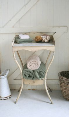 French Antique Metal Washstand. $425.00, via Etsy.