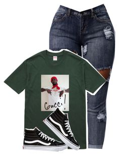 """Untitled #178"" by outfits2dope ❤ liked on Polyvore featuring Gucci and Vans"