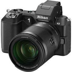 Nikon 1 V2 Mirrorless Digital Camera with 1 NIKKOR 10-100mm Lens (Black) $1,196