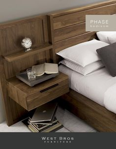 Phase catalog digital by West Bros Furniture - issuu Bedroom Cupboard Designs, Bedroom Closet Design, Bedroom Furniture Design, Bed Furniture, Bedroom Decor, Wood Bed Design, Bed Back Design, Bed Designs With Storage, Double Bed Designs